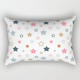 Colorful stars on white. Rectangular Pillow