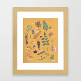 Masala Mix  - Postcard from India Framed Art Print