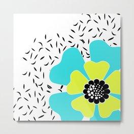 Turquoise flower . Metal Print
