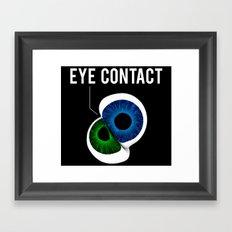 Eye Contact Framed Art Print