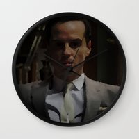 moriarty Wall Clocks featuring Professor Moriarty by GingerRogers