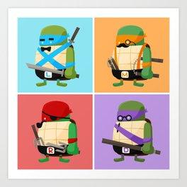 Turtles in Disguise Art Print