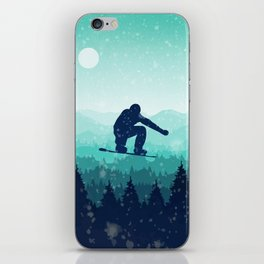Snowboard Skyline II iPhone Skin