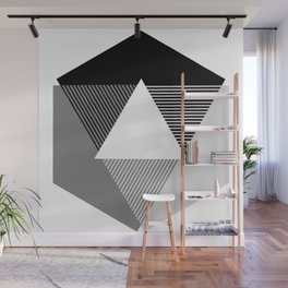 Grey Scale Print, design by Christy Nyboer Wall Mural