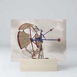 US Wind Engine Vintage Antique Wooden Sectional Windmill Batavia Illinois Mini Art Print