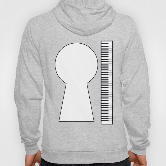 Piano Keyhole Musical Copy Space Hoody