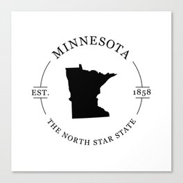 Minnesota - The North Star State Canvas Print