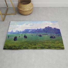 Claude Monet Green Park Rug
