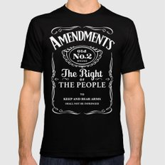 2nd Amendment Whiskey Bottle Black X-LARGE Mens Fitted Tee