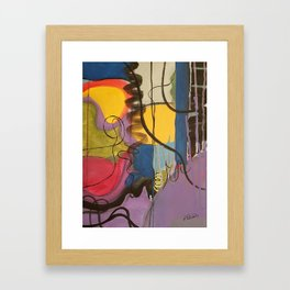 Crazy Mad World Multi Colored Abstract Framed Art Print