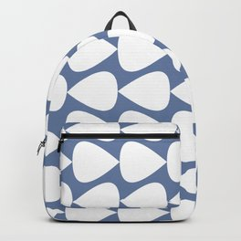 Plectrum Geometric Pattern in White and Beach House Blue  Backpack