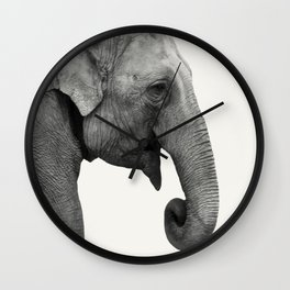 Elephant Animal Photography Wall Clock