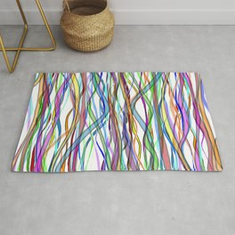 Multiplied Parallel Lines - Colored Rug