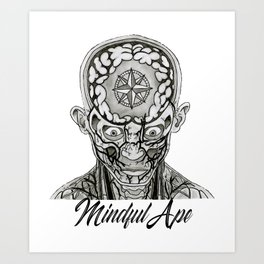 Mindful Ape Art Print