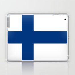 Flag of Finland 1 -finnish, Suomi, Sami,Finn,Helsinki,Tampere Laptop & iPad Skin
