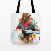 depression Tote Bags featuring  Happy Depression by niuku