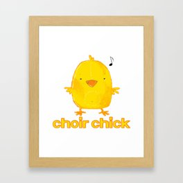 choir chick Framed Art Print
