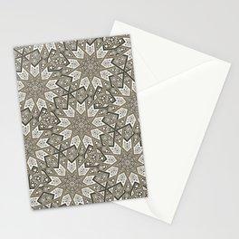 Nine Fold patter in beige Stationery Cards