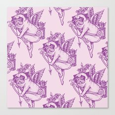 Stupid Pug Cupid Canvas Print