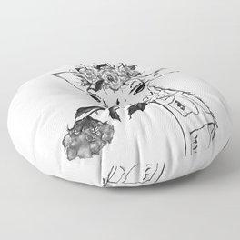 Giraffe, black and white Floor Pillow