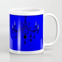 A Chandler with Candles and a Blue Background Coffee Mug