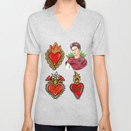 Sacred Hearts and Frida Unisex V-Neck