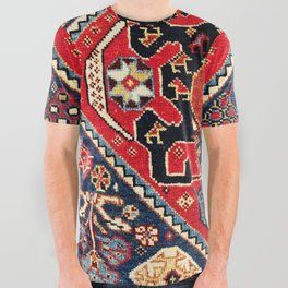 Qashqa'i Antique Fars Persian Bag Face All Over Graphic Tee