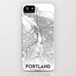 Minimal City Maps - Map Of Portland, Oregon, United States iPhone Case