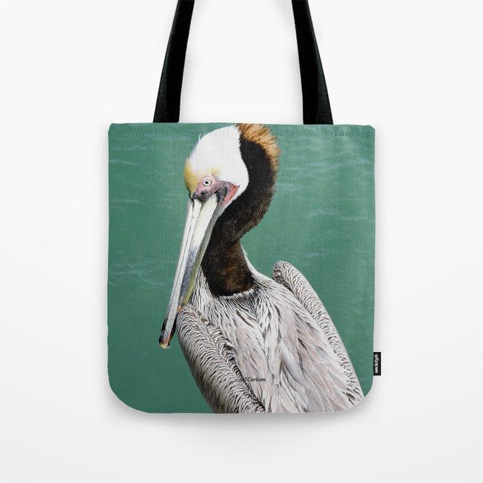 Brown Pelican Upstanding Tote Bag