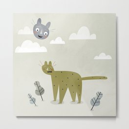 Cat in the Sky. Metal Print