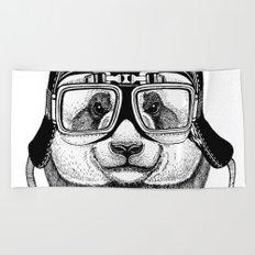 Panta Helmet and glasses Beach Towel