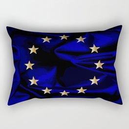 EU Silk Flag Rectangular Pillow