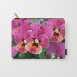 Italian Garden - Pink Pansy Flower Carry-All Pouch