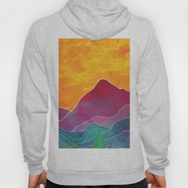 Abstract Mountains Hoody