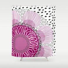 Pinky flower Shower Curtain