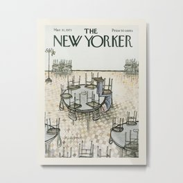 """Cover of """" The new Yorker"""" magazine. Mar. 31 1973. Metal Print"""