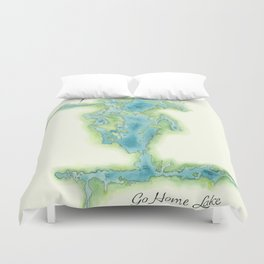 Go Home Lake - Nature Map Duvet Cover