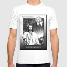 TRUTH MEDIUM White Mens Fitted Tee