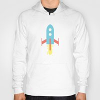 rocket Hoodies featuring Rocket by Henrique Athayde