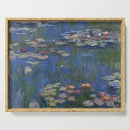 WATER LILIES - CLAUDE MONET Serving Tray