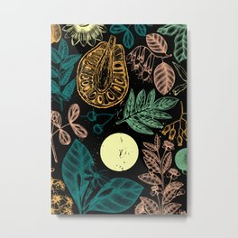 Exotic Plant Poster - Black Metal Print