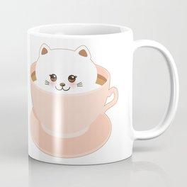 Cute Kawai cat in pink cup Coffee Mug