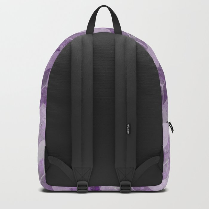 Chevron pattern, watercolors purple Backpack