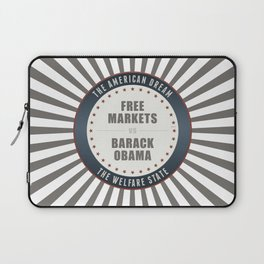 Free Markets Versus Obama Laptop Sleeve