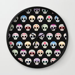 Sugar Skulls Wall Clock
