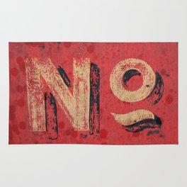 No non Red Rug