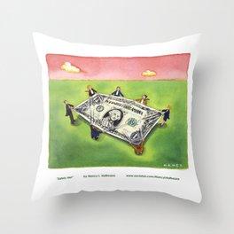 Dollar Safety Net Throw Pillow