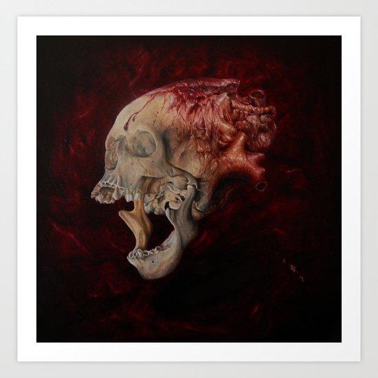 HeartSkull Art Print