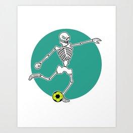 Calavera Soccer Art Print