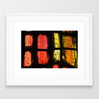 stained glass Framed Art Prints featuring Stained glass by Pirmin Nohr